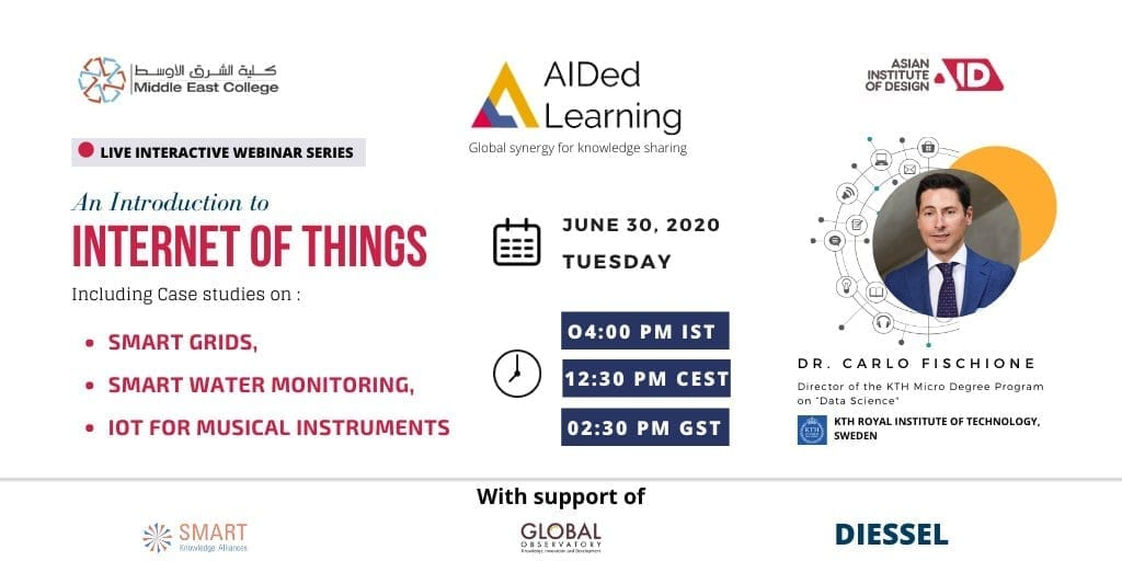 "Asian Institute of Design webinar: ""An introduction to Internet of Things"""