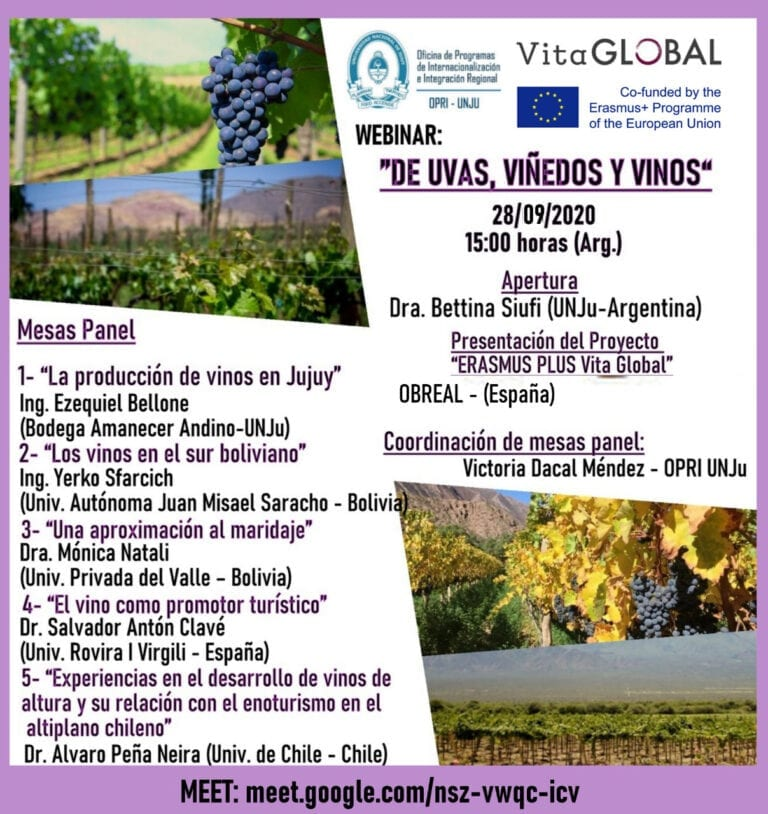 "VITA GLOBAL Webinar: ""About grapes vineyards and wines"""