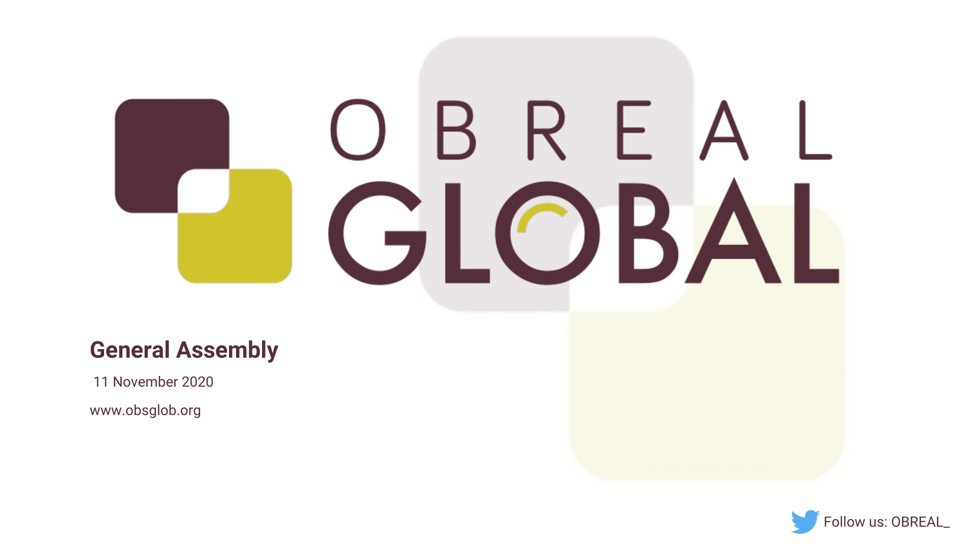 OBREAL GLOBAL General Assembly