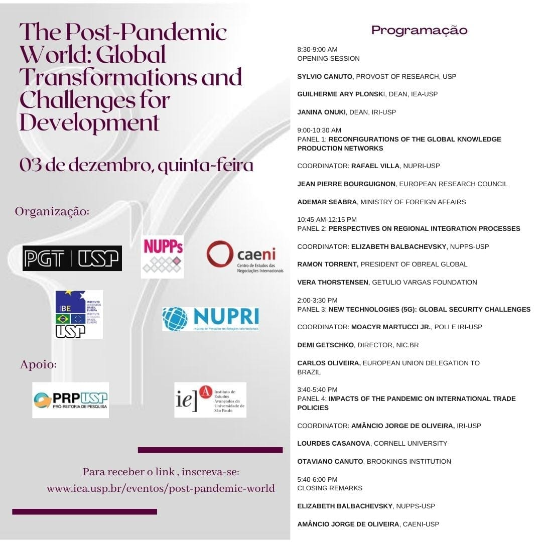 USP Seminar: The post-pandemic world: global transformations and challenges for development